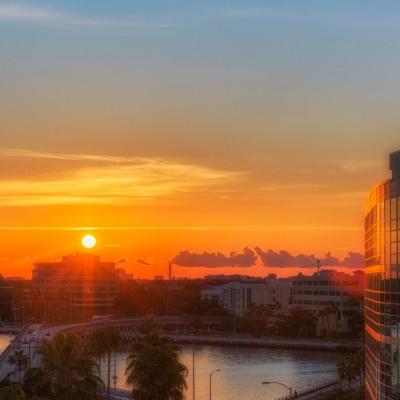 Sunset from TGH Garage, Tampa, Florida