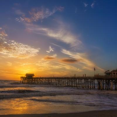 Cocoa Beach Pier Sunrise Wide, Cocoa Beach, Florida