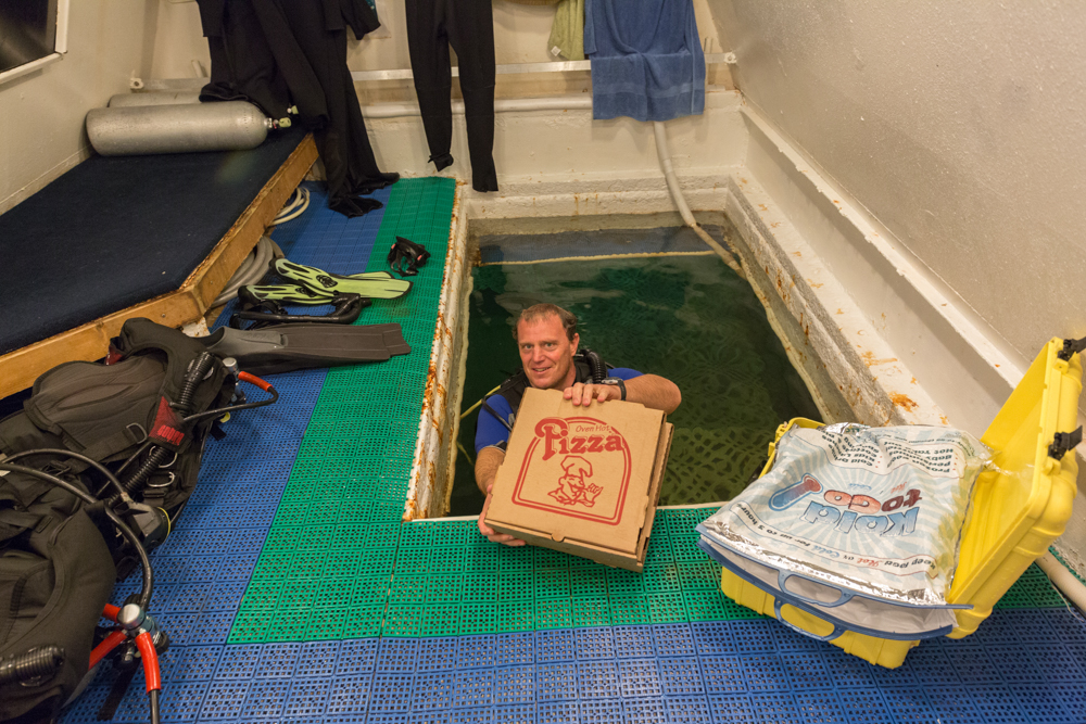 Jules Undersea Lodge Underwater Pizza Delivery