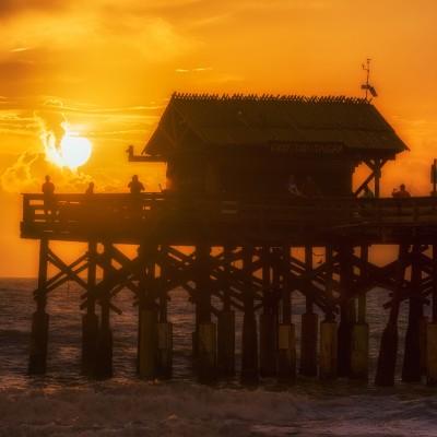 Fishing at Sunrise 2 - Cocoa Beach Pier, Cocoa Beach, Florida