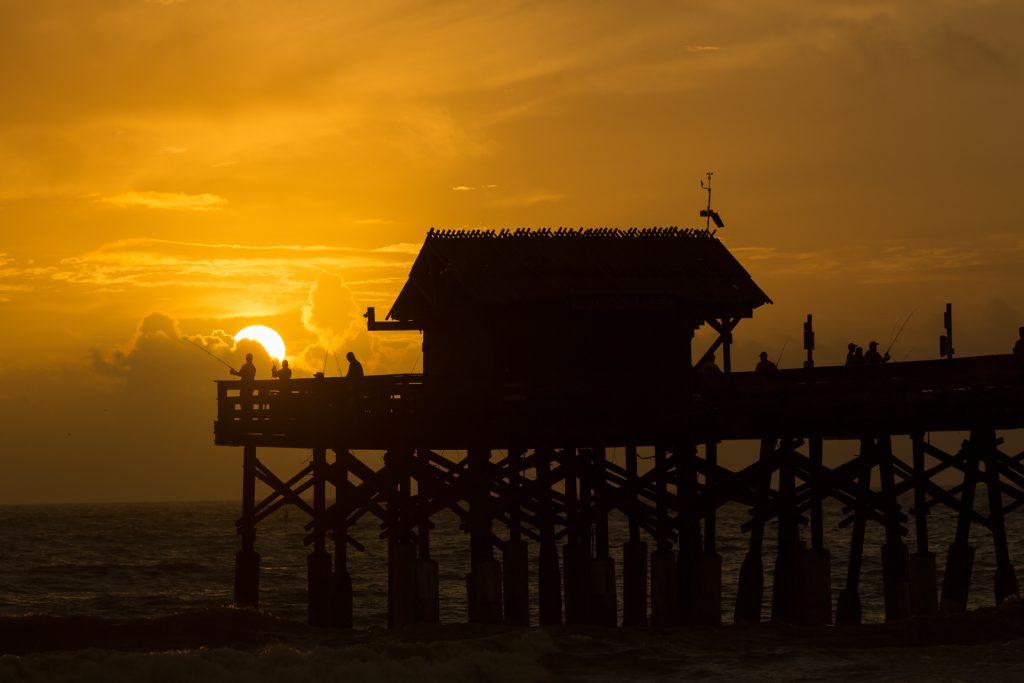 Cocoa Beach Pier Sunrise Silhouette, Cocoa Beach, Florida