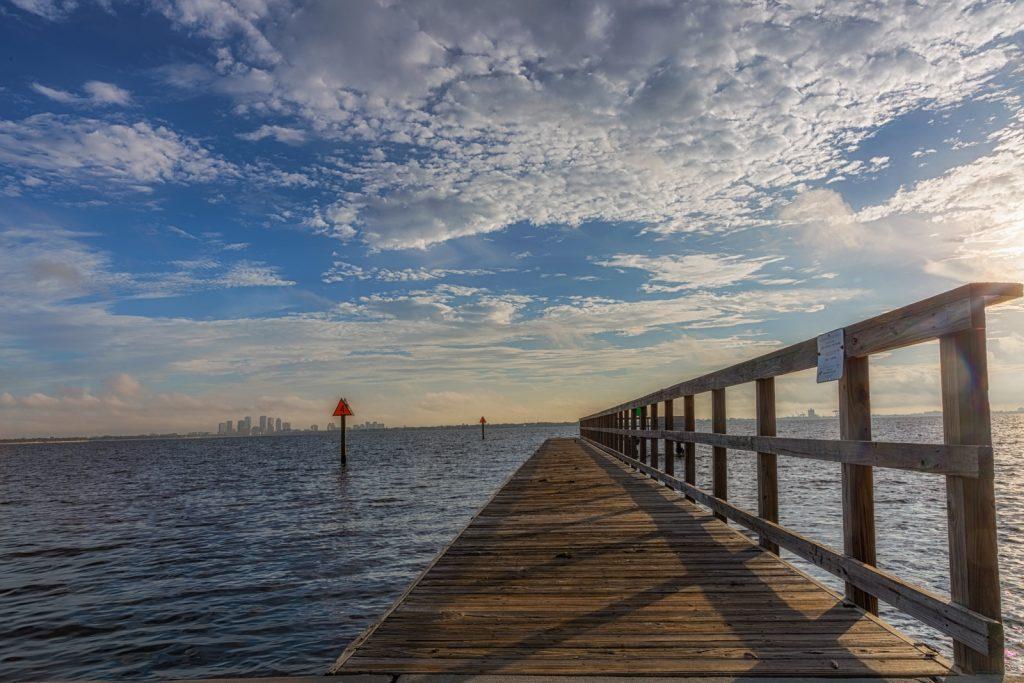 Short Pier looking towards Tampa, Tampa, Florida