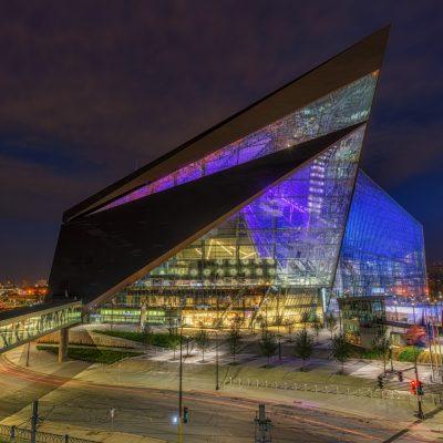 US Bank Stadium at Night, Minneapolis, Minnesota