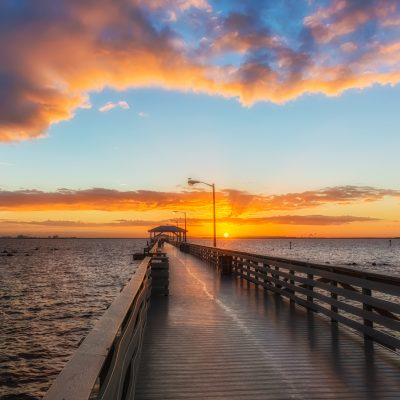 Ballast Point Pier Sunrise Glow, Tampa, Florida