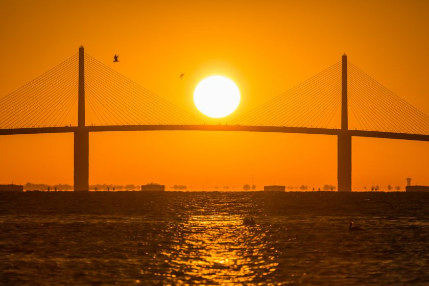 Skyway Bridge Sunrise plus Jupiter