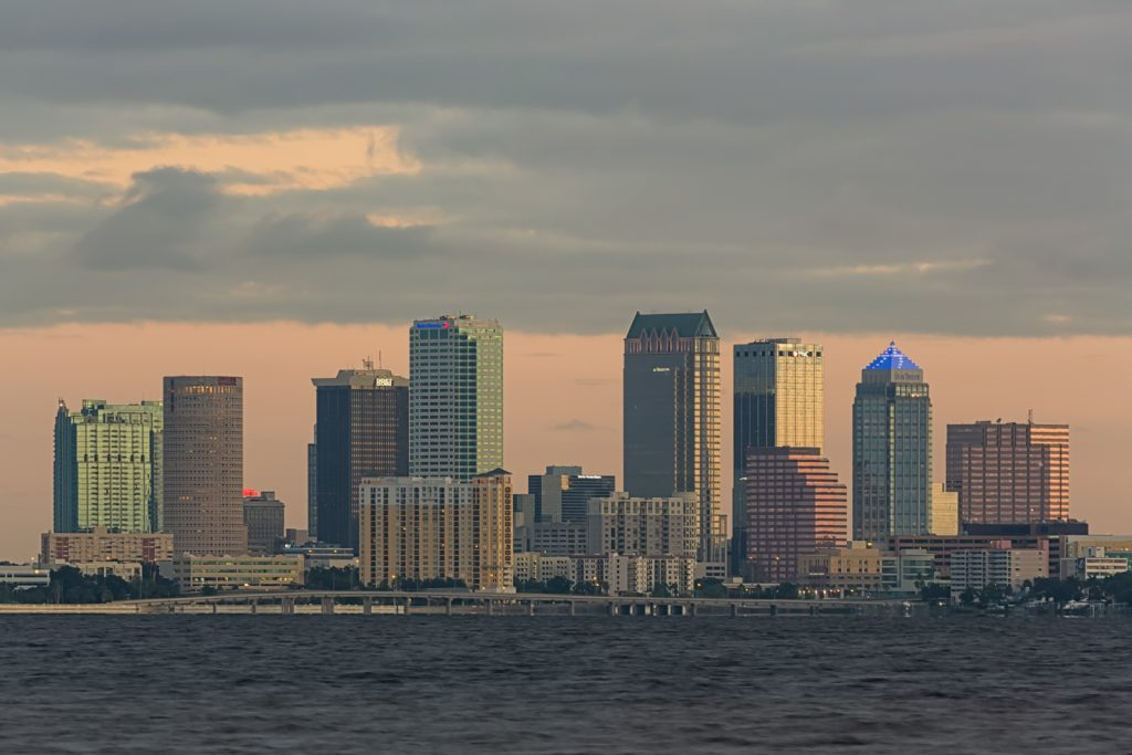 Telephoto view of Tampa, Tampa, Florida