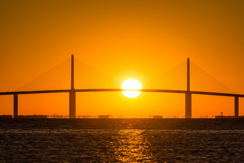 Sunrise from Fort Desoto