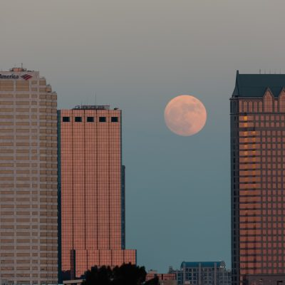 Supermoon over Tampa, Tampa, Florida