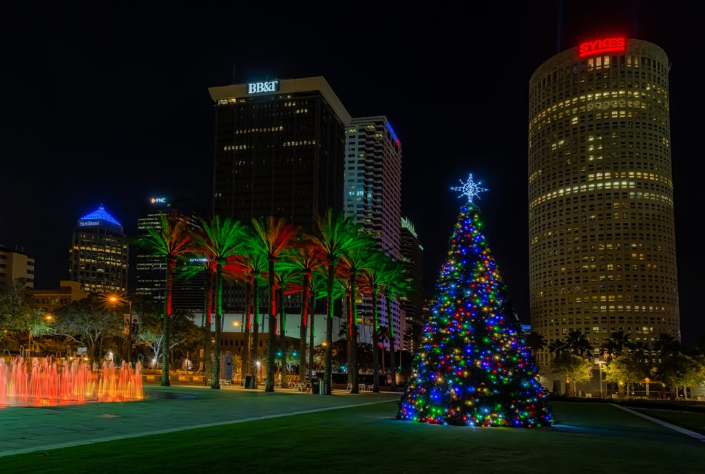 Tampa Christmas Postcard, Tampa, Florida