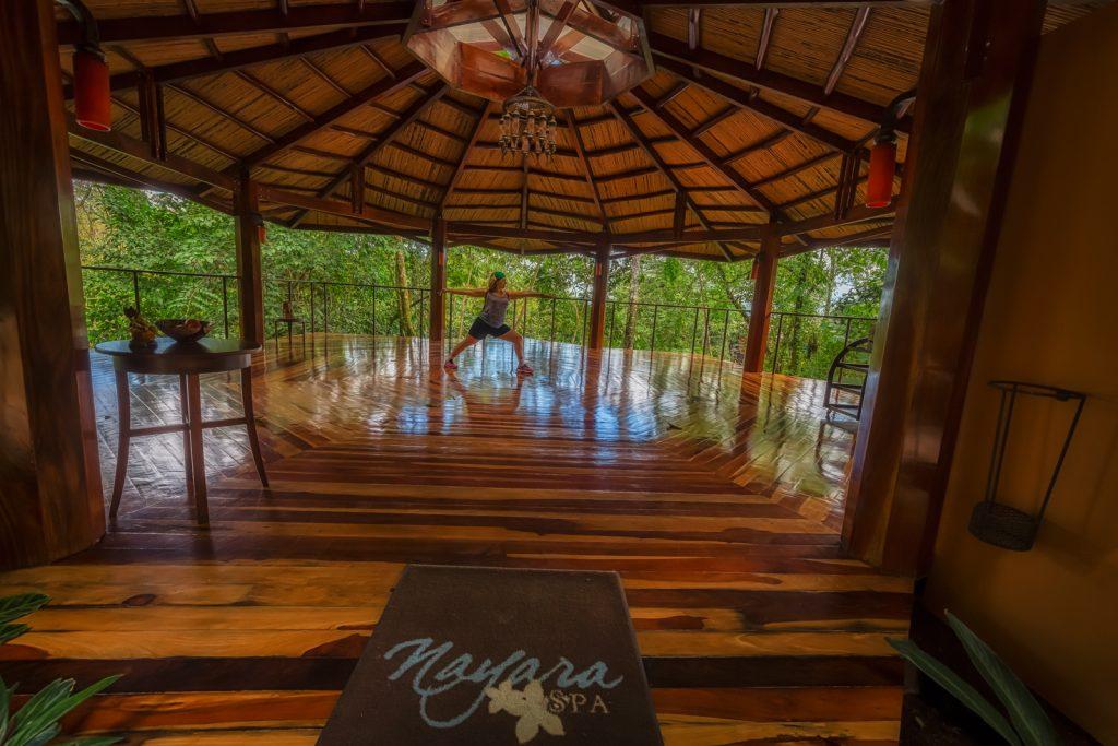 Yoga at Nayara Hotel, La Fortuna, Costa Rica