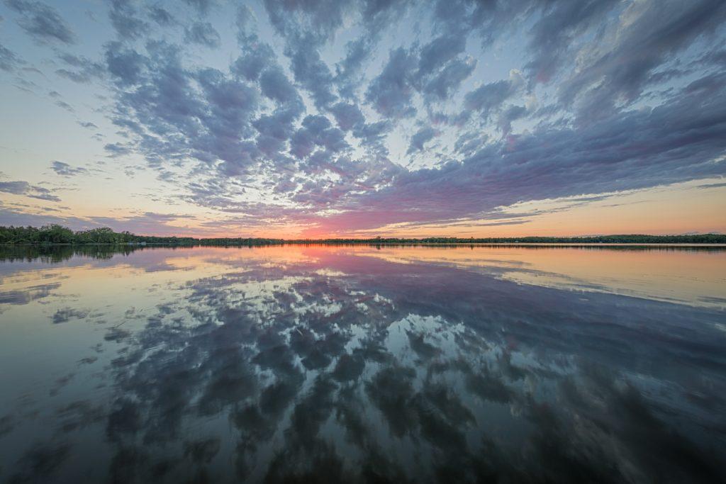 Reflected Sunset 2 on Dead Lake, Minnesota