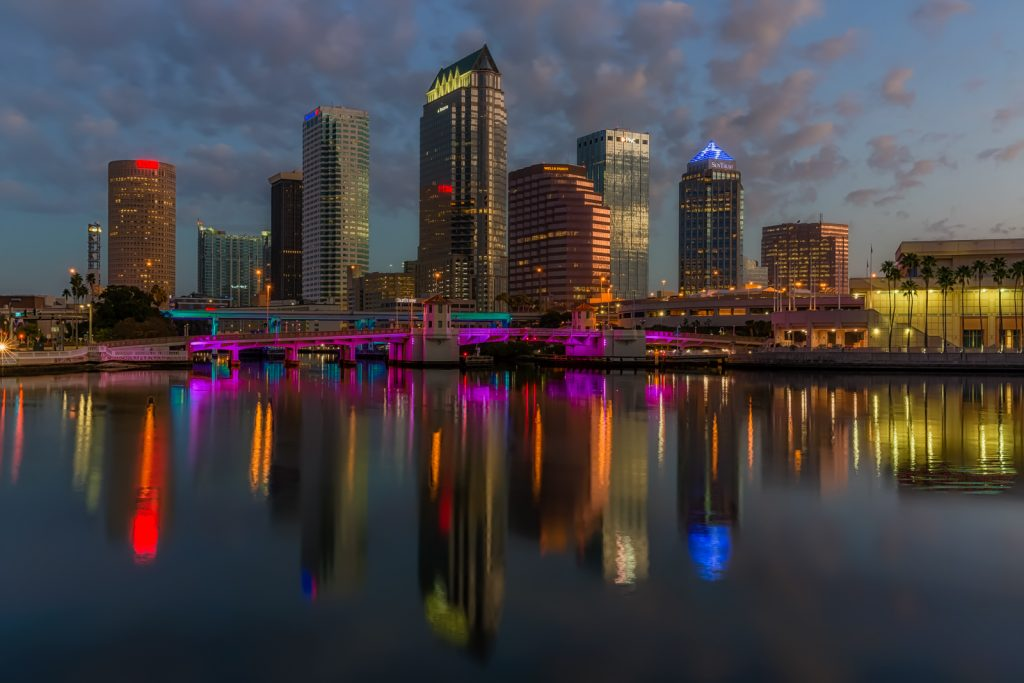 Tampa Bay Lightning Skyline Reflection, Tampa, Florida