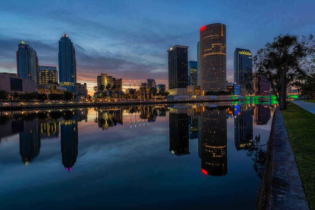 Reflected Morning in Tampa, Tampa, Florida