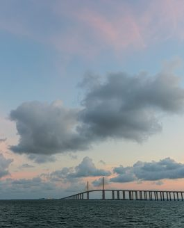 Sunshine Skyway Bridge Clouds and Sun