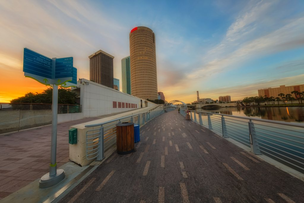 Tampa Riverwalk Sunrise, Tampa, Florida