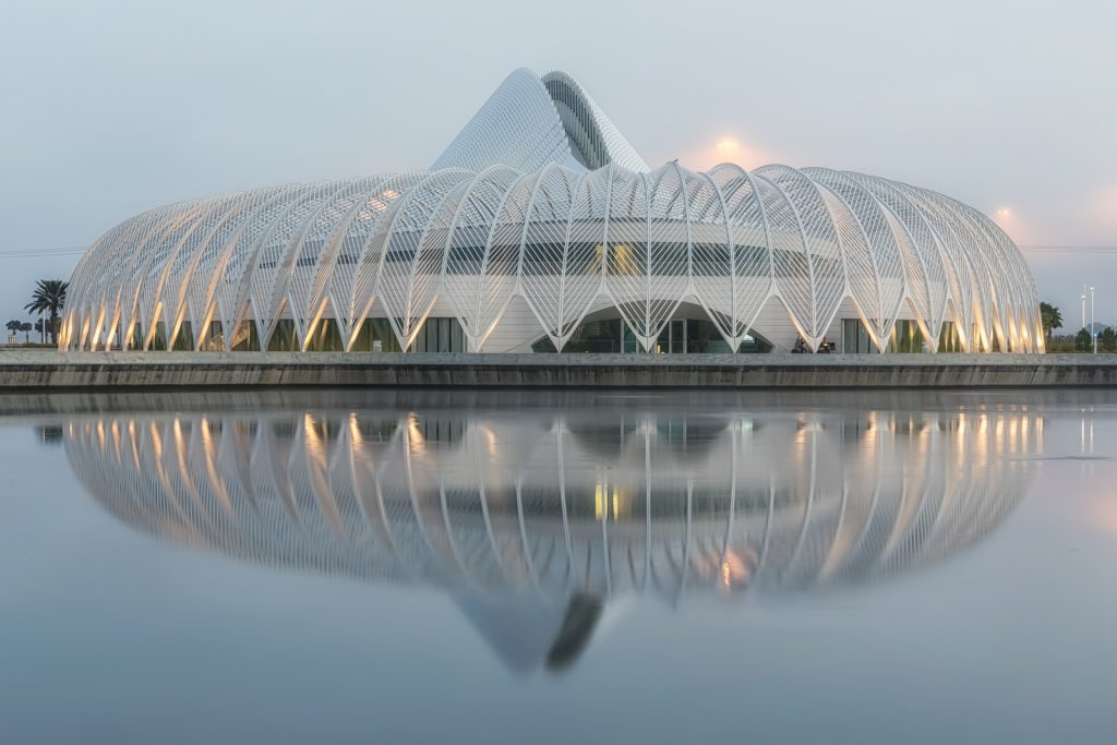 Florida Polytechnic University Reflection in Fog, Lakeland, Florida