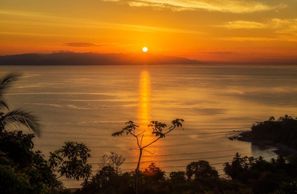 Lapa Rios Sunrise Silhouette, Osa Peninsula, Costa Rica