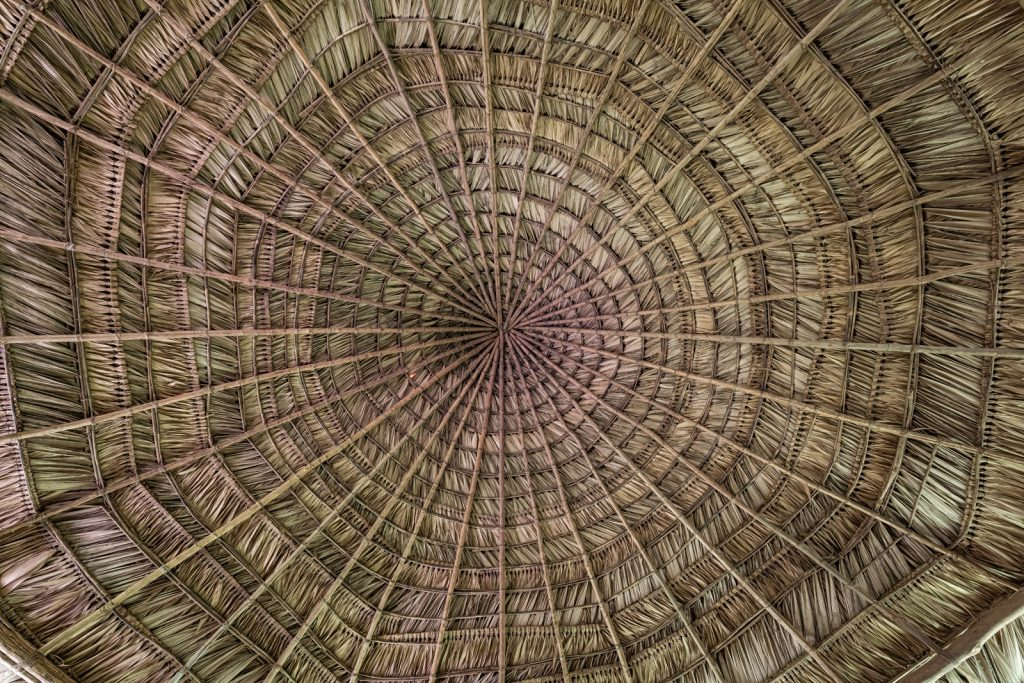 Thatch Hut Roof, Pacuare Lodge, Costa Rica