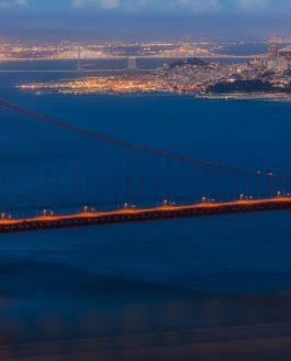 San Fransisco and Golden Gate Bridge at Night