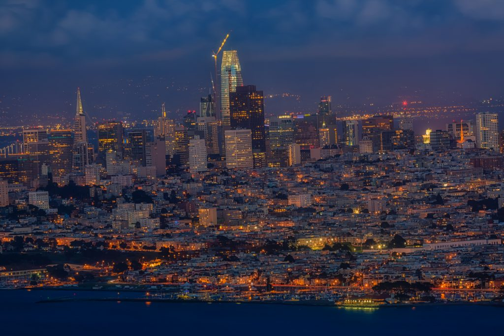 San Fransisco at Night, San Fransisco, California