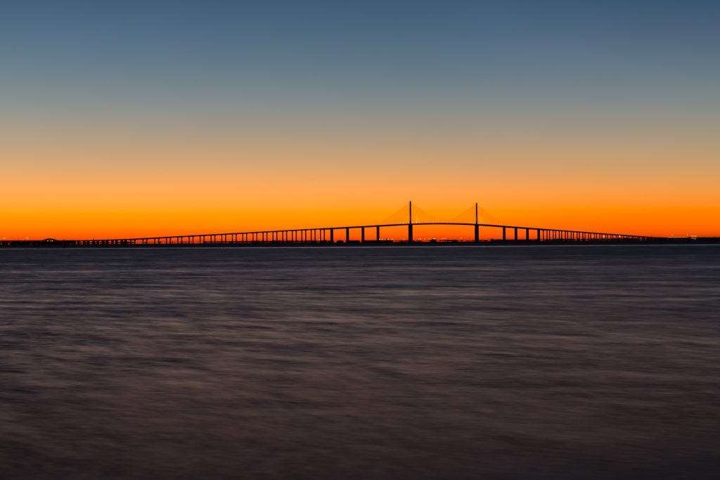 Calm Waters at Dawn at the Skyway, Fort Desoto, Tierra Verde, Florida