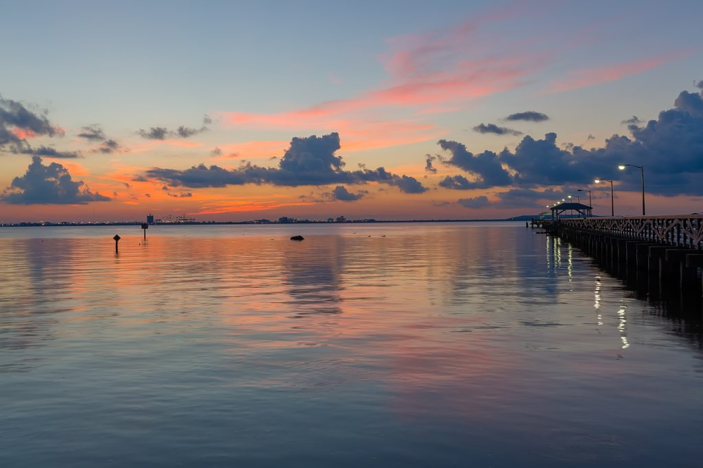 Colorful Dawn at Ballast Point, Tampa, Florida