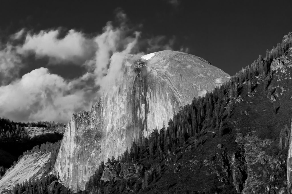 Half Dome in Black and White, Yosemite National Park, California