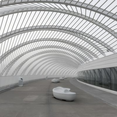 Florida Polytechnic Universit Curves BW, Lakeland, Florida