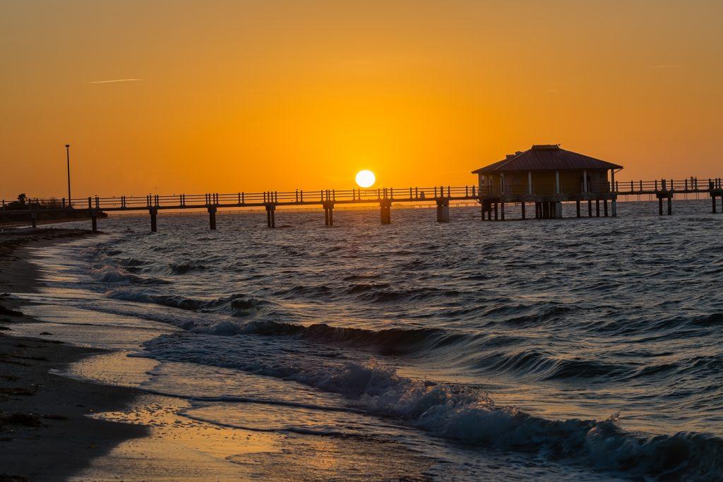 Fort Desoto Bay Pier Sunrise 2, Fort Desoto, Tierra Verde, Florida
