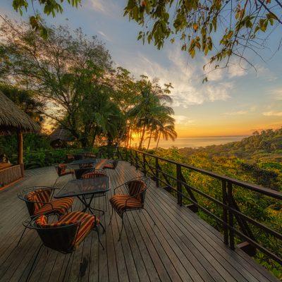 Sunrise from the Porch at Lapa Rios, Lapa Rios Ecolodge, Costa Rica