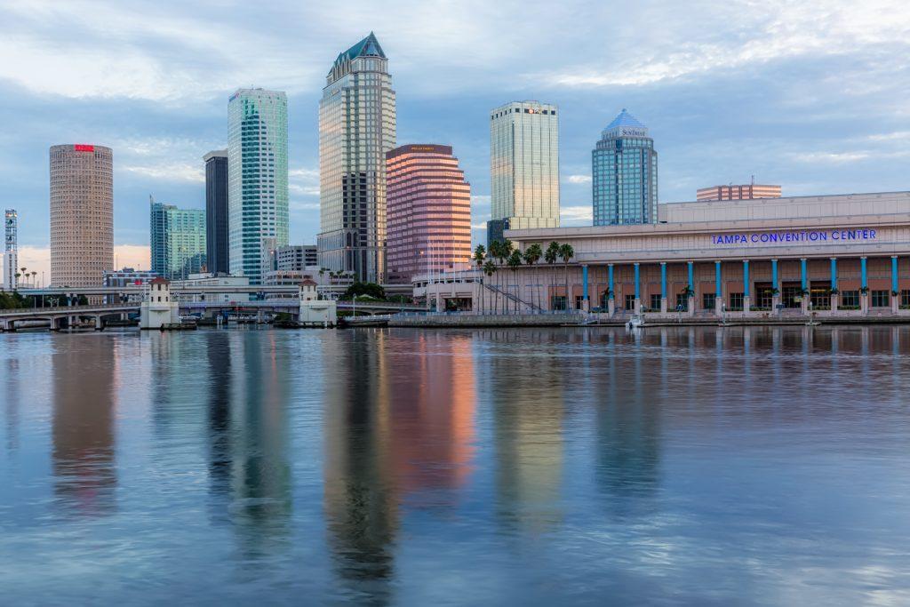 Tampa Dawn Reflection Tight, Tampa, Florida