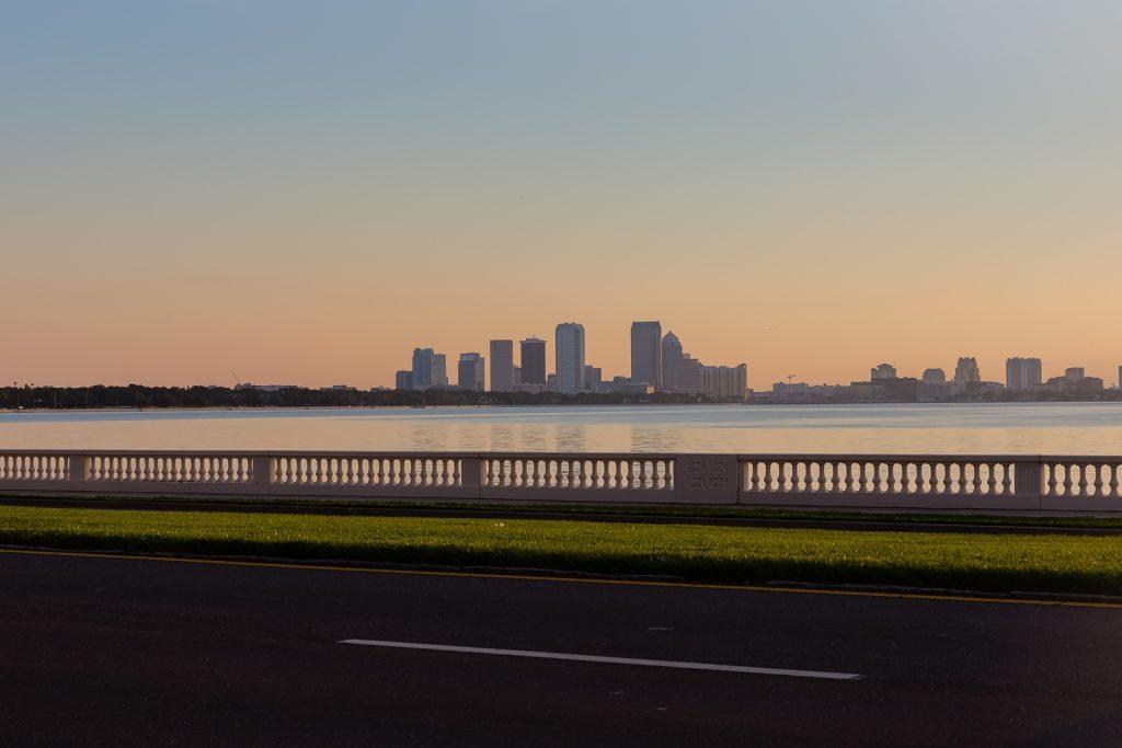 Tampa from Bayshore Boulevard, Tampa, Florida