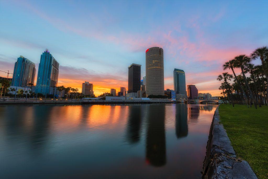 Tampa Long Exposure Sunrise, Tampa, Florida