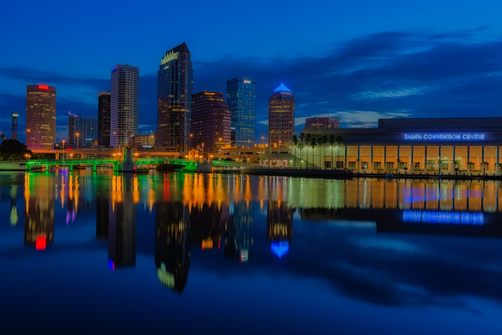 Tampa Classic Dawn - Exposure Blend, Tampa, Florida