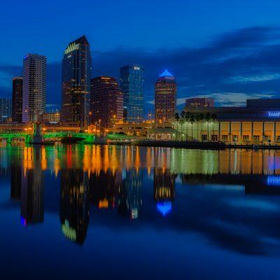 Tampa Classic Dawn - Exposure Blend, Tampa, Florida