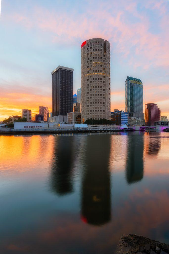 Tampa Dawn Reflection, Tampa, Florida