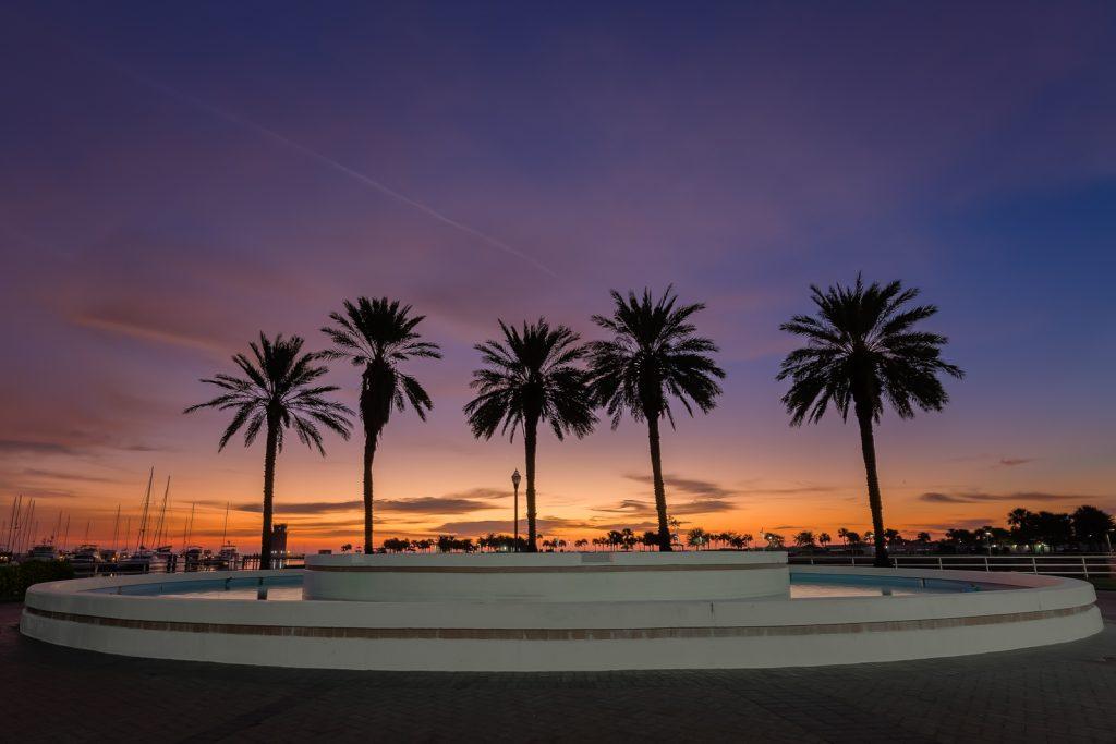 St Petersburg Fountain Sunrise, St Petersburg, Florida