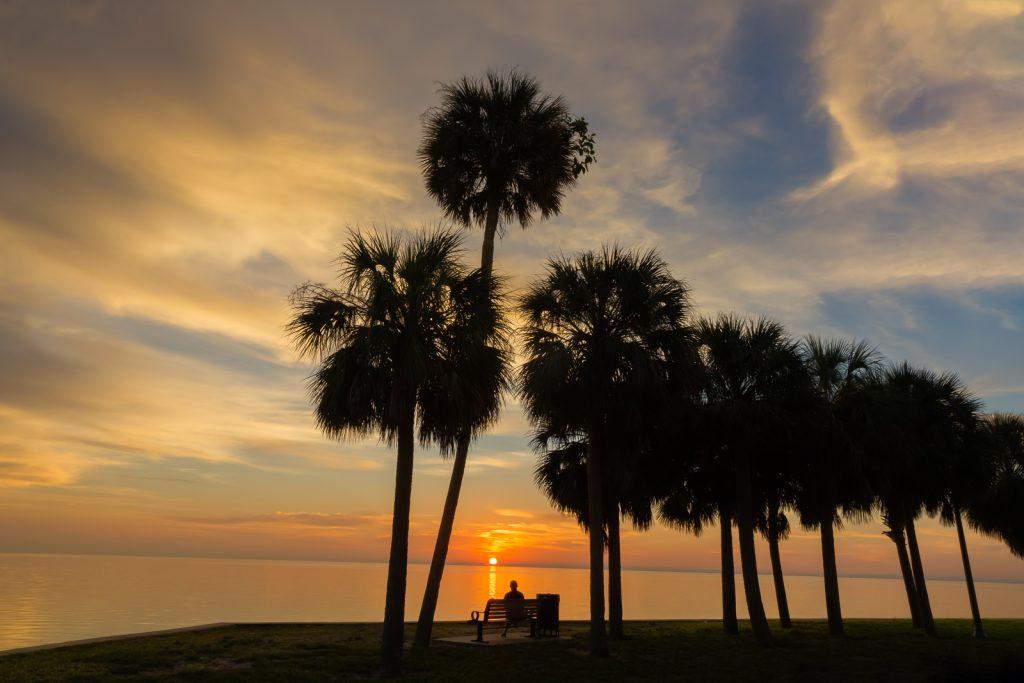 Watching the Sunrise in St Petersburg, St Petersburg, Florida