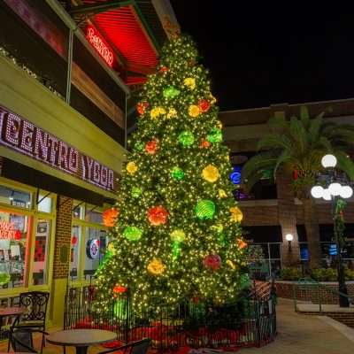 Centro Ybor Christmas Tree Vertical, Ybor City, Florida