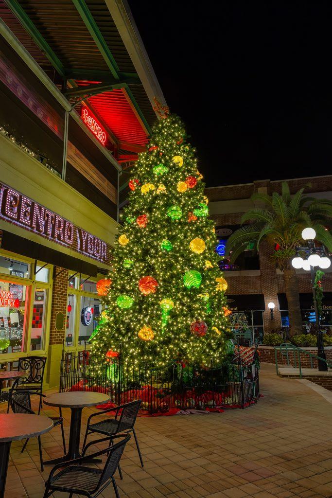 Centro Ybor Christmas Tree Vertical, Ybor City, Florida