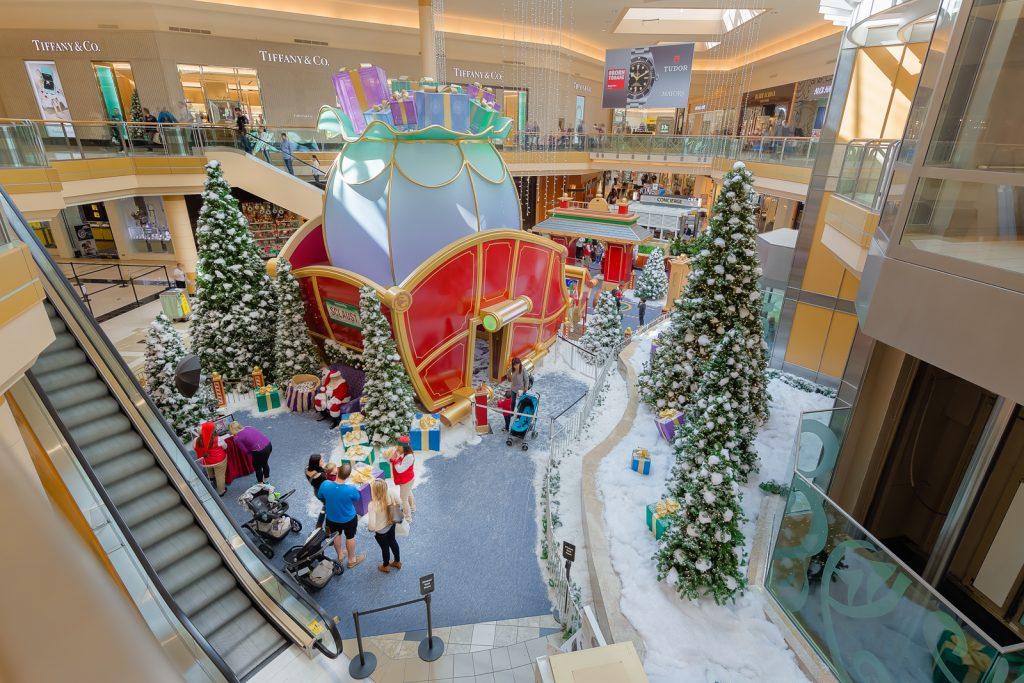 Christmas and Santa at International Mall, Tampa, Florida