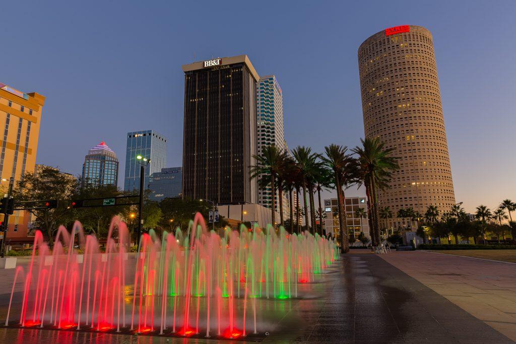 Curtis Hixon Christmas Fountains, Tampa, Florida