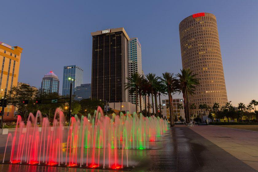 Tampa Christmas Fountain