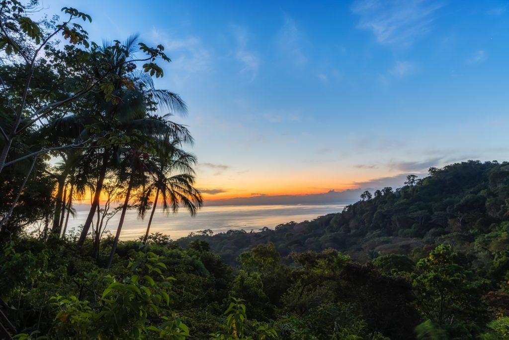 Jungle Sunrise at Lapa Rios, Lapa Rios Ecolodge, Osa Peninsula, Costa Rica