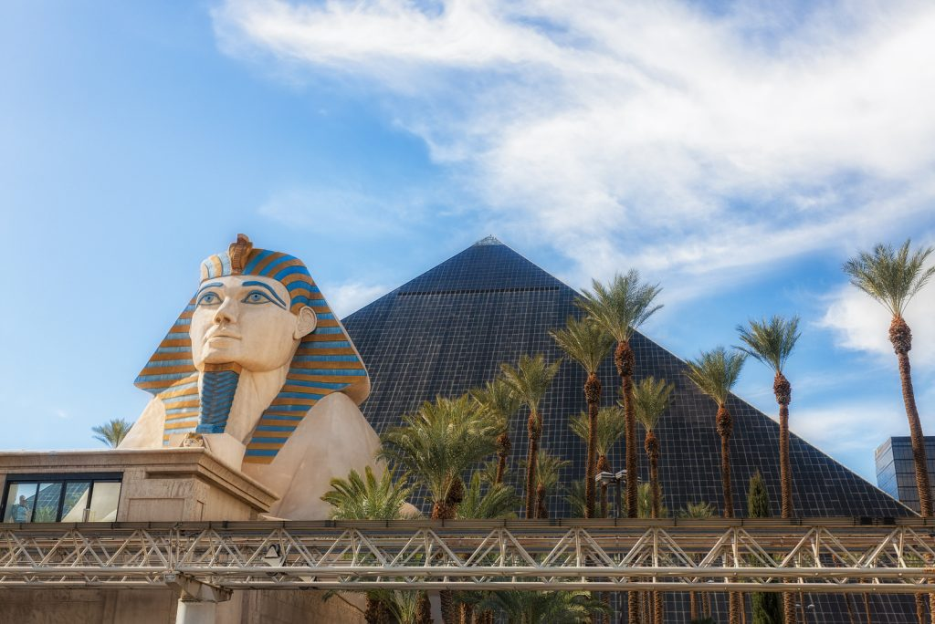 Sphinx and Pyramid - Luxor