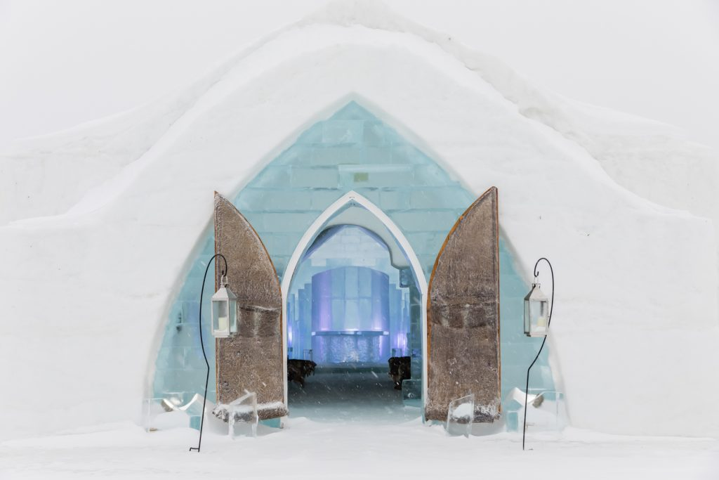 The Ice Chapel at the Hotel de Glace