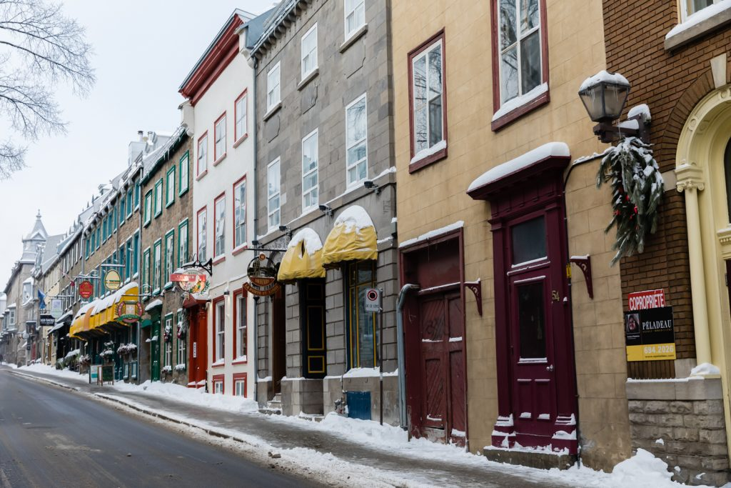 Buildings of Old City in Quebec City