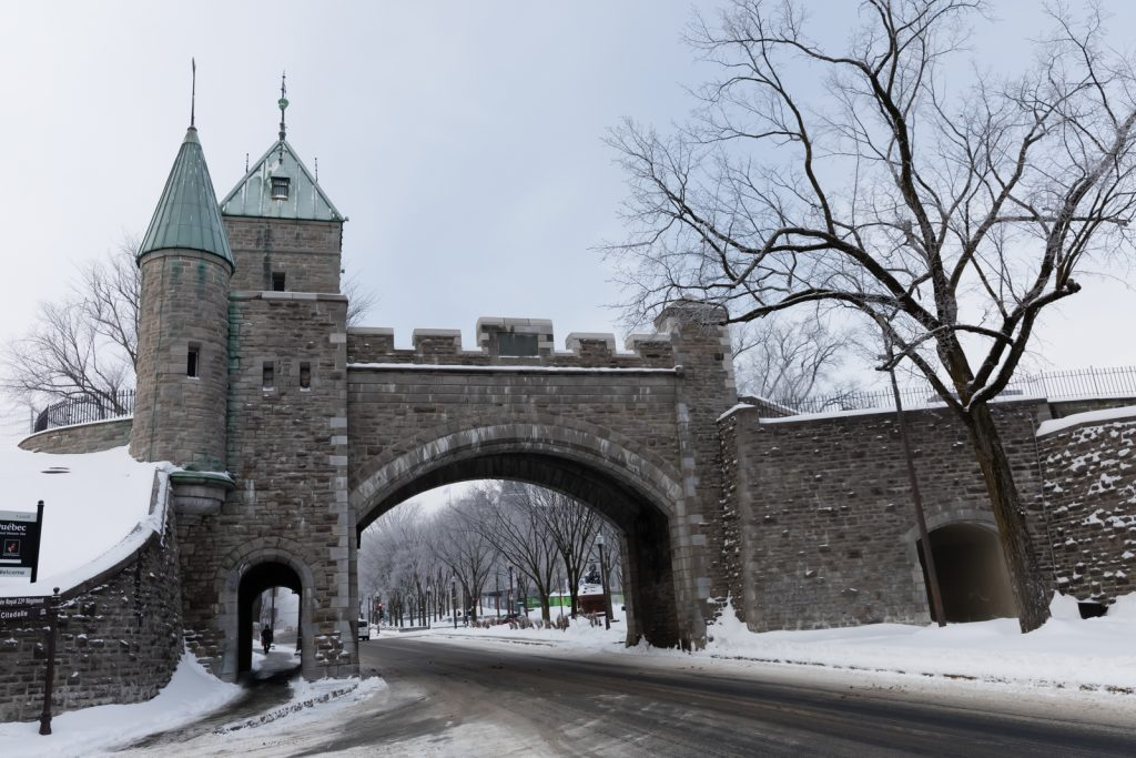 Wall of Old City in Quebec City