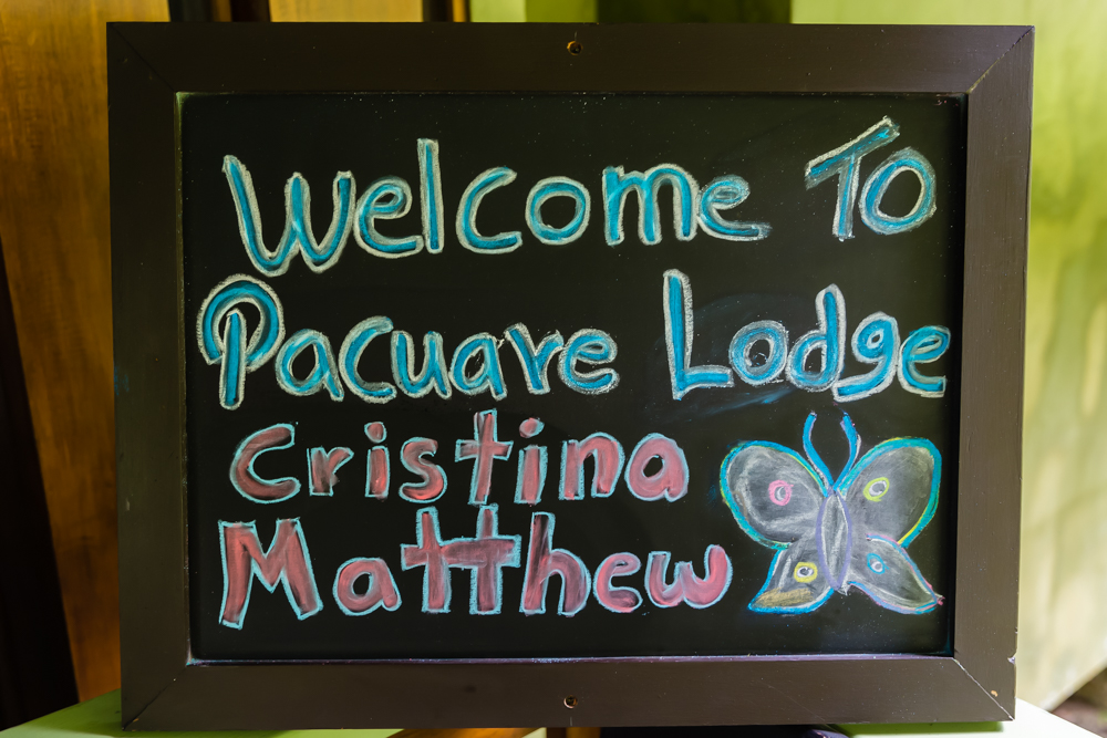 Pacuare Lodge Sign