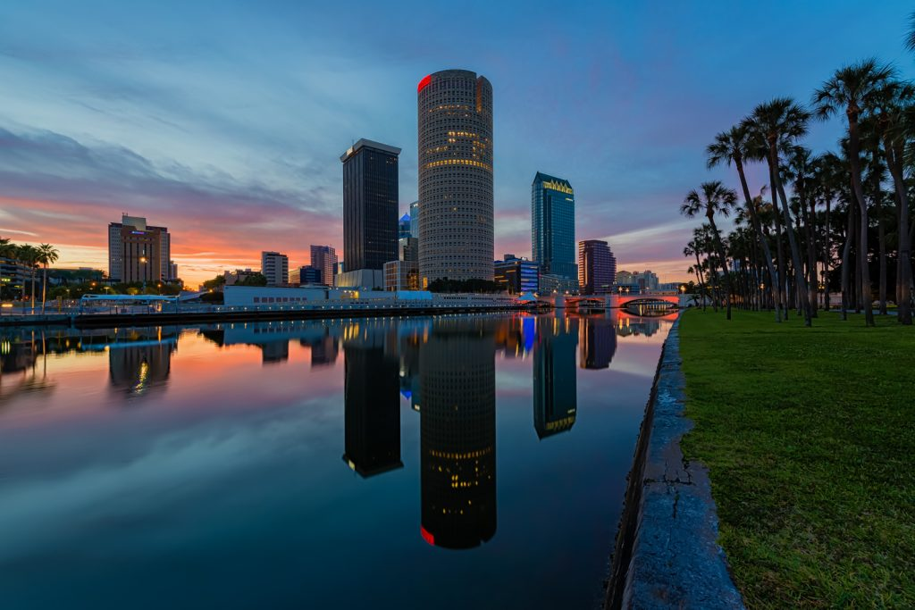 Tampa Sunrise Reflection, Tampa, Florida